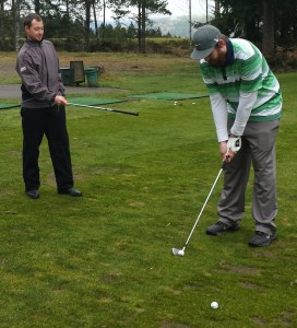 John Cassidy (left) with a student at Alderbrook
