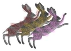 Festive hare pieces