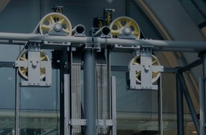 Elevator mechanicals.