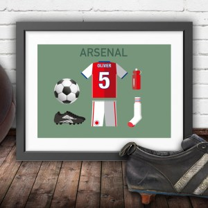 Personalised Arsenal vintage football kit