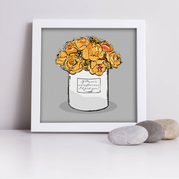Mothers Day Flower Illustration