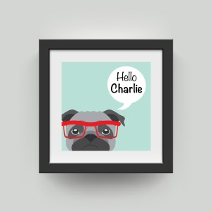 Personalised Hello Puppy Artwork