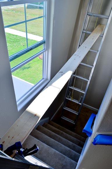 How To Paint A Wall Above A Stairwell