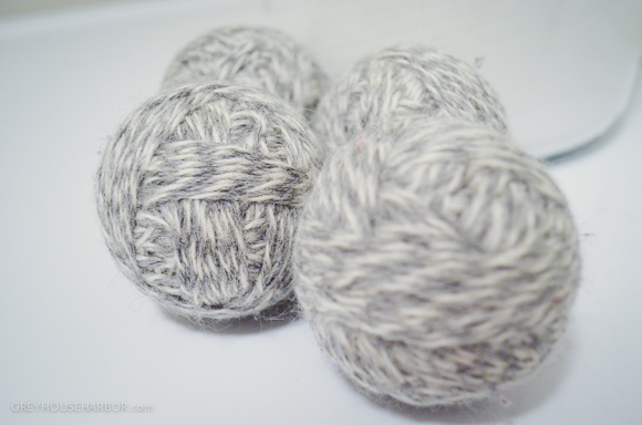 Homemade Dryer Balls via Grey House Harbor