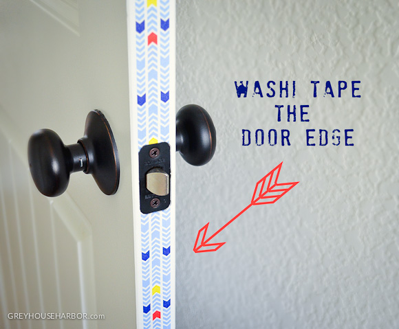 Washi Tape the Door Edge