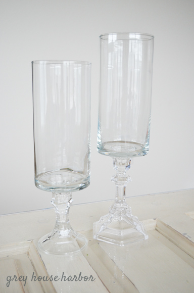 dollar store candle holders   Grey House Harbor