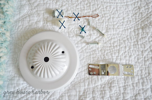 diy shade pendant light  |  greyhouseharbor.com