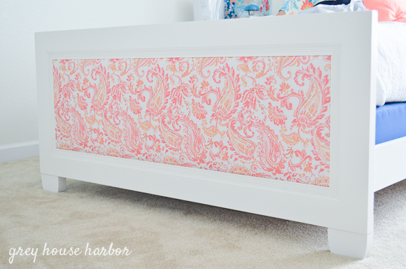 how to upholster a panel bed  |  greyhouseharbor.com