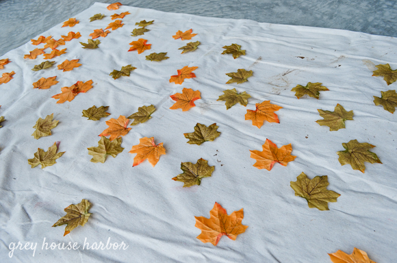 dollar store DIY leaf garland  |  greyhouseharbor.com