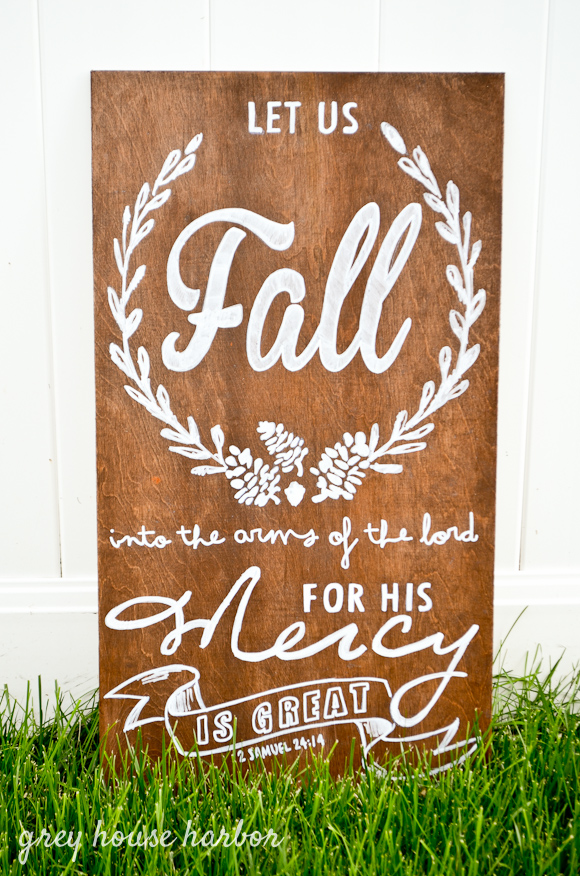 diy wood fall sign  greyhouseharbor.com
