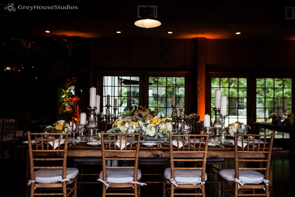 winvian wedding photos farm tables wedding reception details