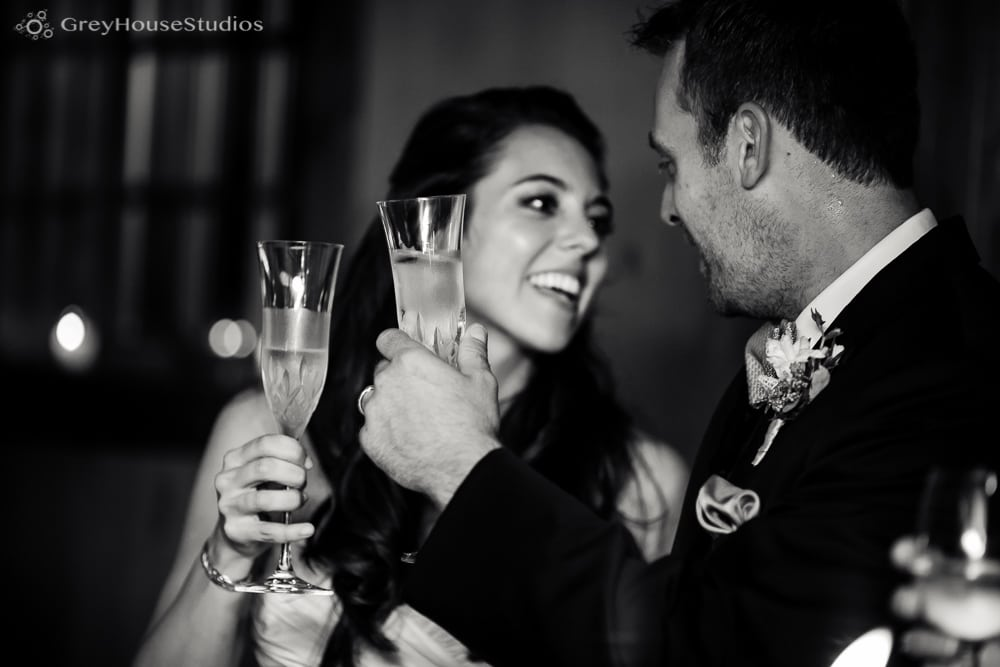 winvian wedding reception photos bride and groom toast