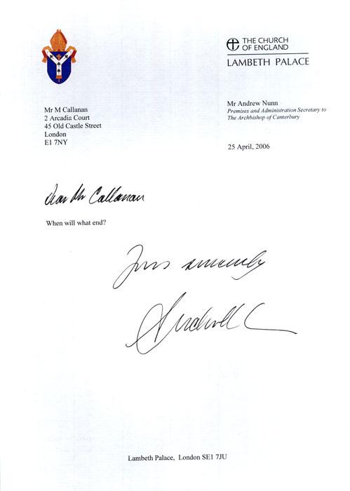 Letters 20042006  Martin John Callanan