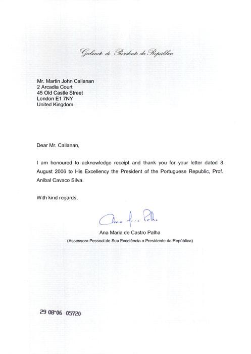 Letters 2004 2006 — Martin John Callanan