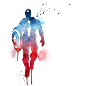 Discontinued Captain America fan art found on http://boutique.blule.fr. Artist uncredited.