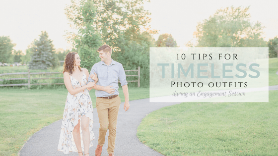 Best Tips for your engagement session photo outfits timless ideas grey loft studio wedding photographer videographer ottawa carp kanata westboro bright and airy couple holding each other walking in the sunset