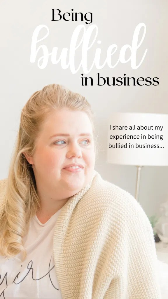 Being Bullied in Business - I share all about my experience in Being Bullied in Business.