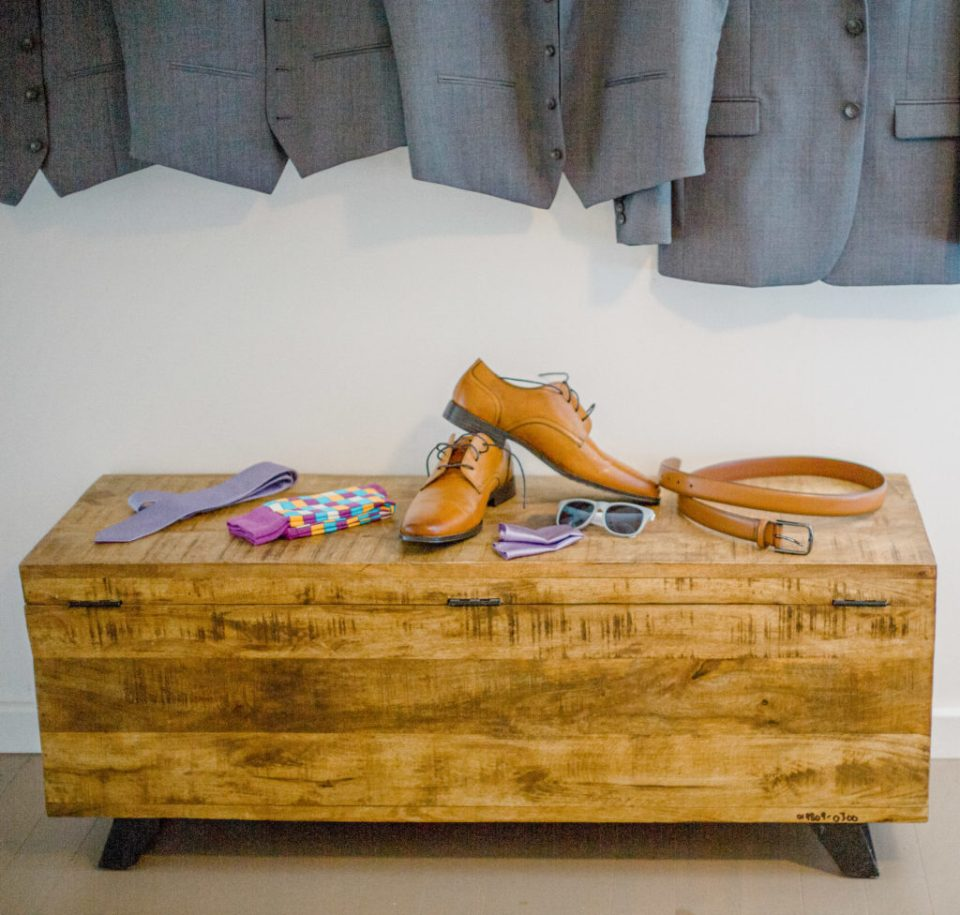 Shoes, Socks, Tie, Belt, Sunglasses, Grey Suits, all paired up with a Lavender Theme Wedding.