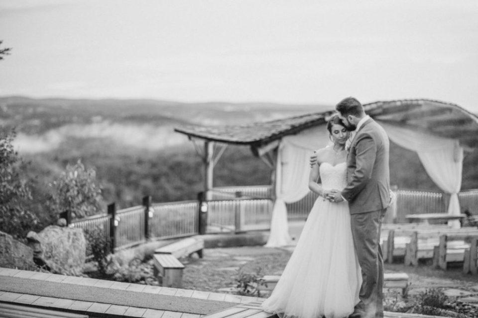 Bride and Groom Posing after the Rain Photos - Lavender Rain Inspired Wedding - Le Belvedere- Grey Loft Studio- Ottawa Wedding Photographer - Affordable - Cheap - Fine Art - Best - Kanata Photographer - Wedding Videographer Ottawa - Light and Airy - Beautiful - Timeless - Organic Photographer Carp - Stittsville