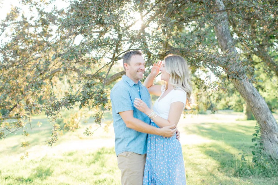 Sunset - Neutral Blue/White/Grey Engagement Session Outfit Inspiration -  Grey Loft Studio - Ottawa Engagement Session - Dominion Arboretum - -Wedding Photographer Ottawa - Wedding Photo Ottawa - Ottawa Wedding Videographer - Ottawa Wedding Photography & Videography - Ottawa Photo Studio