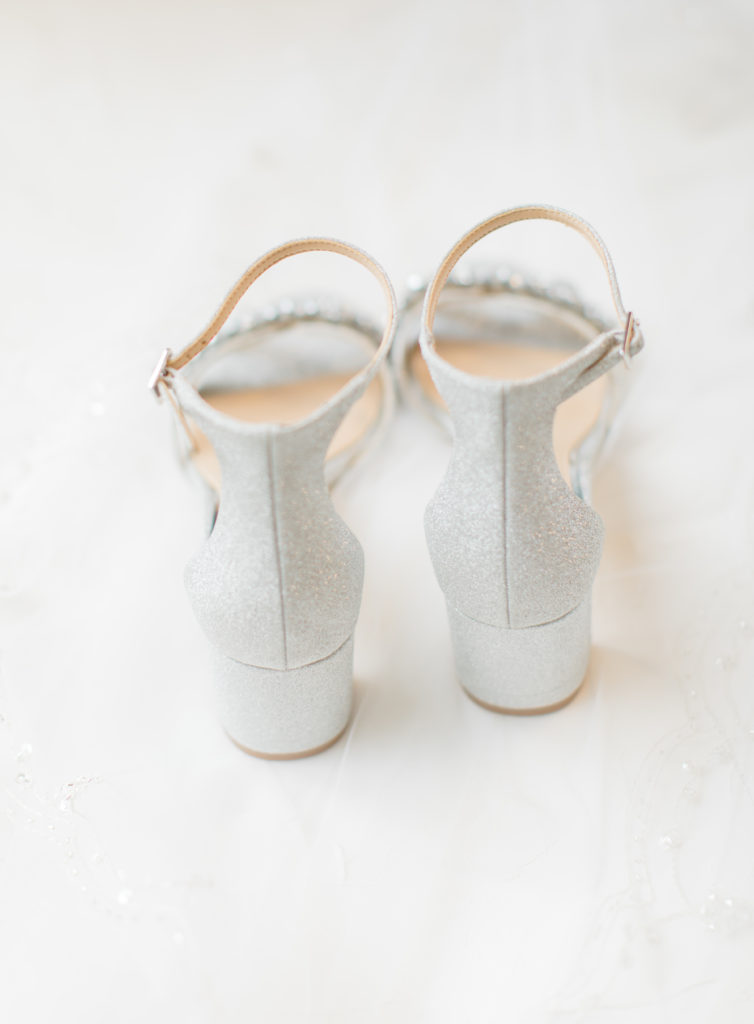 Jewel Pumped Wedding Shoes - Badgley Mischka - Bride getting Ready Photos - Makeup Artist - Romantic Wedding at NeXt in Stittsville - Grey Loft Studio - Ottawa Wedding Photographer - Ottawa Wedding Photo & Video Team