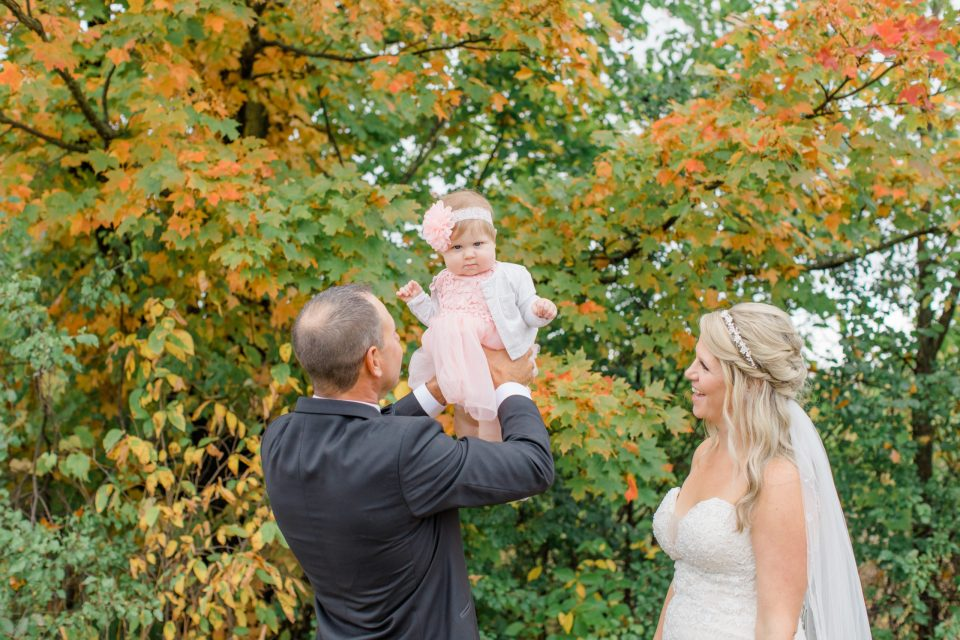 Proud Parents getting Married with Baby - Holy Spirit Catholic Church Stittsville - Bride with Bridesmaids - Black and White Theme Wedding - Romantic Wedding at NeXt in Stittsville - Grey Loft Studio - Ottawa Wedding Photographer - Ottawa Wedding Photo & Video Team
