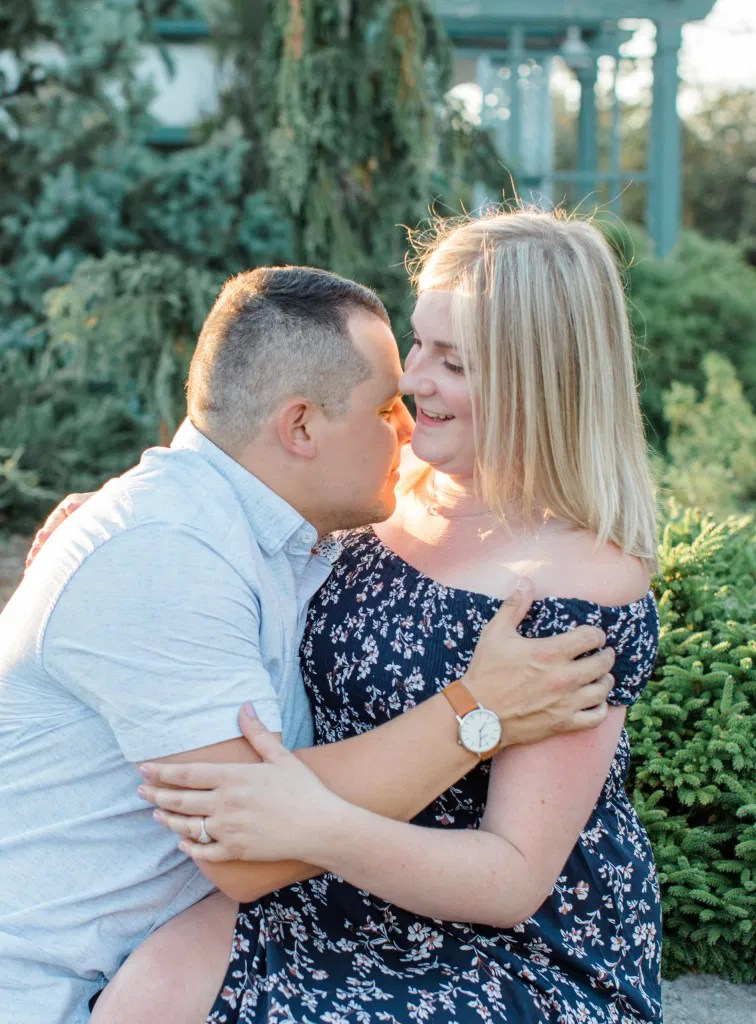 Summer Engagement Session inspiration - Neutrals, Blues, Flowy Dress - Floral Print Navy - Grey Loft Studio - Ottawa Wedding Photographer - Wedding Videographer - Fun, Natural, Bright Photo Video Team. - Photographe - Greyloft - Ottawa Engagement Pictures