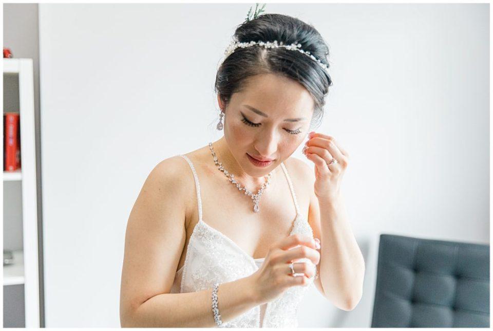 Beautiful Asian Bride getting Ready on Wedding Day - Lisa & Pat - Grey Loft Studio - Wedding Photo & Video Team - Light and Airy - Ottawa Wedding Photographer & Videographer