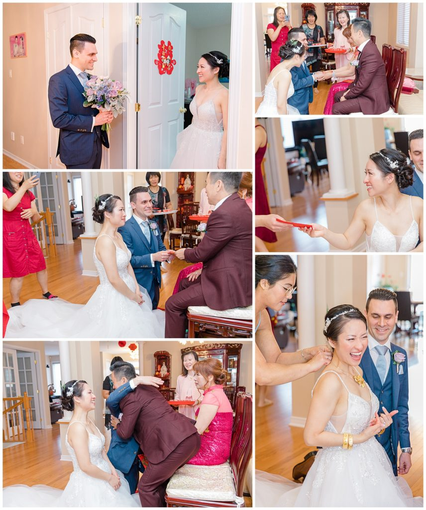 Tea Ceremony at Home - Lisa & Pat - Grey Loft Studio - Wedding Photo & Video Team - Light and Airy - Ottawa Wedding Photographer & Videographer