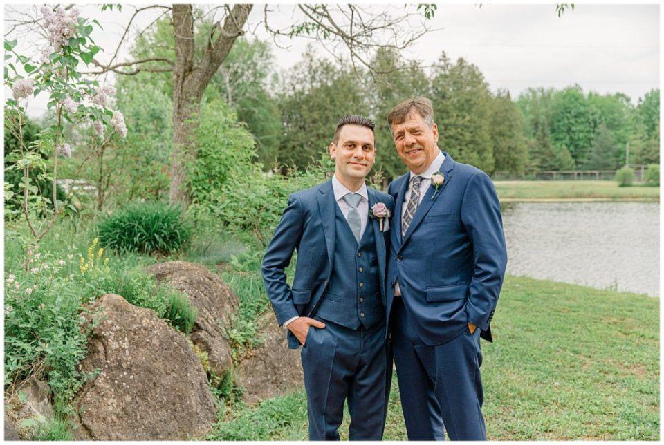Dad & Son - Italian & Chinese Family - Wedding - Lisa & Pat - Grey Loft Studio - Wedding Photo & Video Team - Light and Airy - Ottawa Wedding Photographer & Videographer Orchard View Weddings