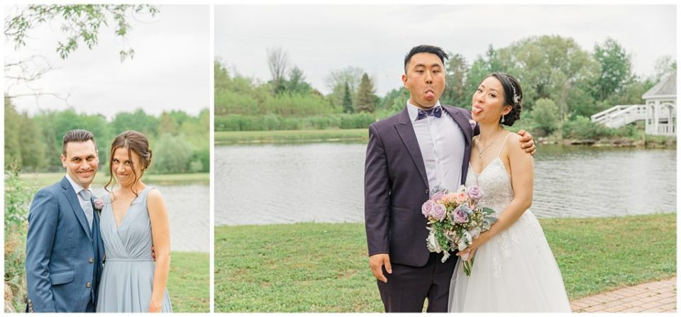 Siblings on Wedding Day - Italian & Chinese Family - Wedding - Lisa & Pat - Grey Loft Studio - Wedding Photo & Video Team - Light and Airy - Ottawa Wedding Photographer & Videographer Orchard View Weddings