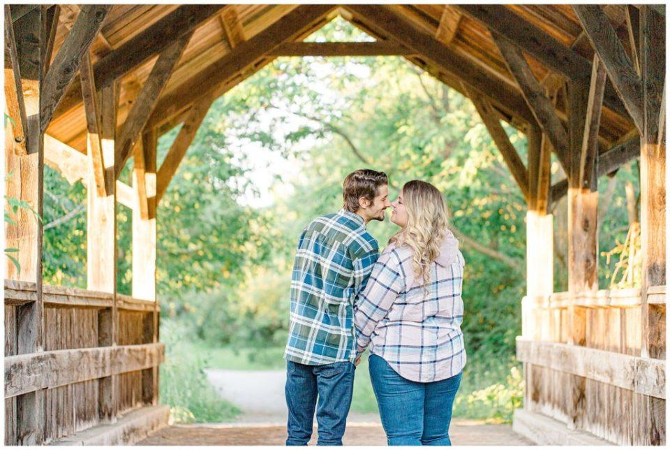 Nose to Nose pose - Engagement Photo - Ottawa Wedding Photographer - Grey Loft Studio