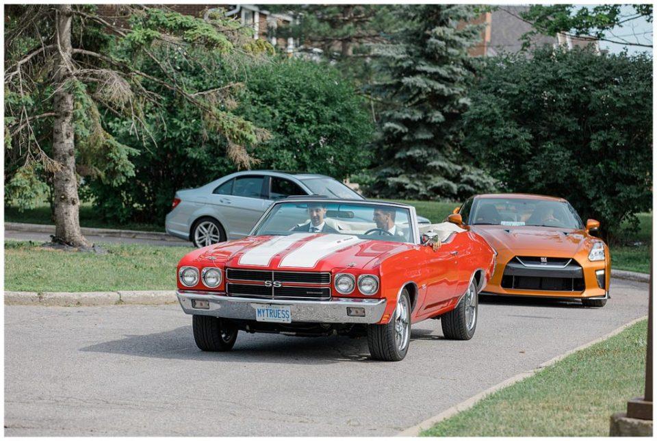 Fancy cars on Wedding Day
