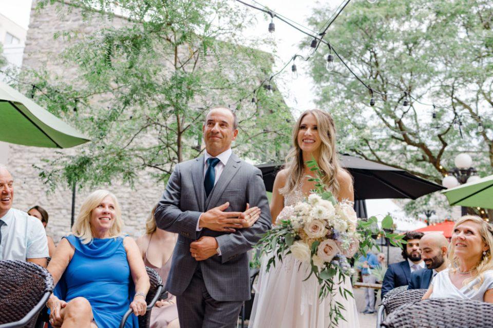 Summer Wedding at Side Door Restaurant outdoor ceremony