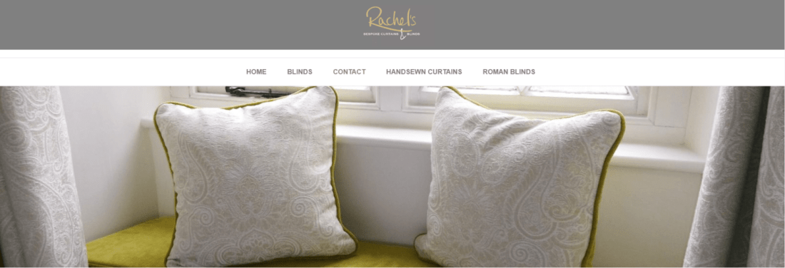 Rachels Bespoke Landing Page after the brand refresh