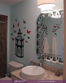 demi vessel bowl granite countertop bathroom fancy mirror