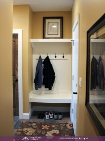 small mudroom bench slate floor