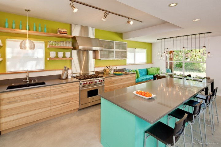 Spice Up Your Kitchen With Color Blocking!