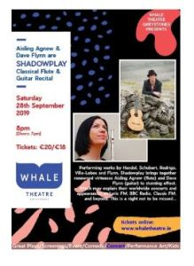 Shadowplay – Aisling Agnew & Dave Flynn (classical flute and guitar duo) @ Whale Theatre