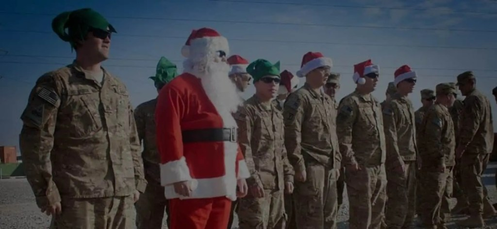 Grey Team Happy Holiday Greeting For Veterans