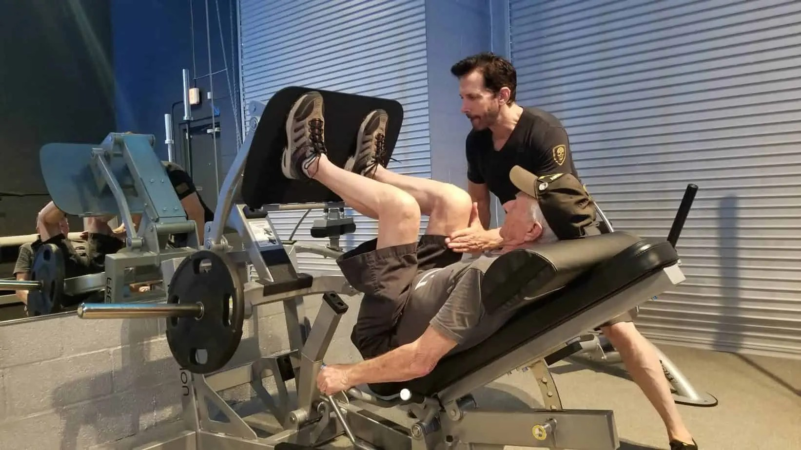 Co-founder Cary Reichbach providing personalized one-on-one personal training with a 91-year-old combat veteran in Boca Raton, Florida.