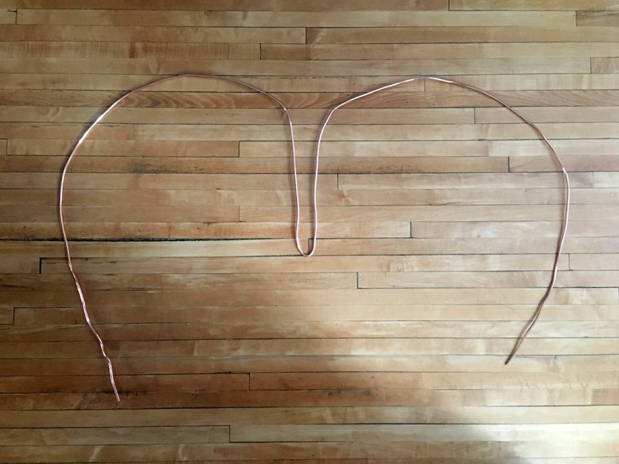 4mm Copper Electrical Wire bent to shape the frame. Angel wings DIY Twin Cities Boudoir Photographers