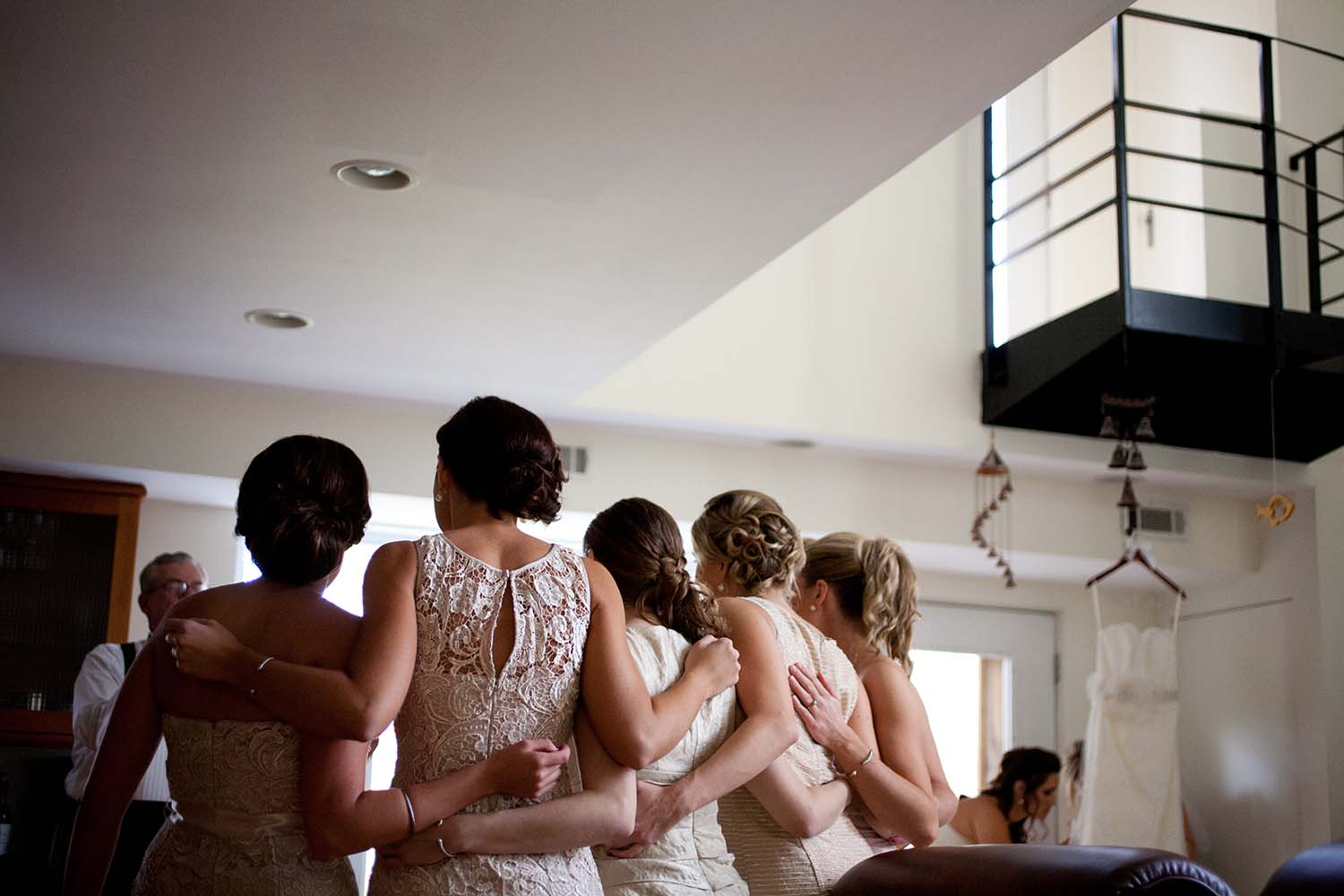 Bridesmaids posing photo candid