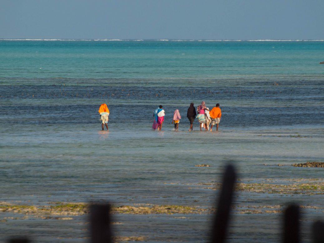 Locals at the beach in Zanzibar