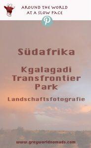 Gefangenes Licht der Abendsonne. Landschaftsfotografie, Kgalagadi, Südafrika.