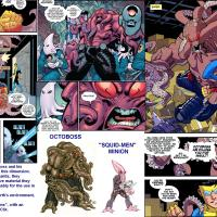 """INDY (Robert Kirkman's """"Invincible"""") HeroClix Wish-List: Octoboss & his Squid-Men (v1.1)"""