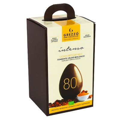 80 uovo di cioccolato crudo vegano senza lattosio senza glutine