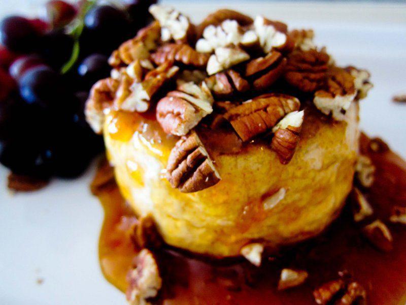 Ofnbakaður brie með mango chutney