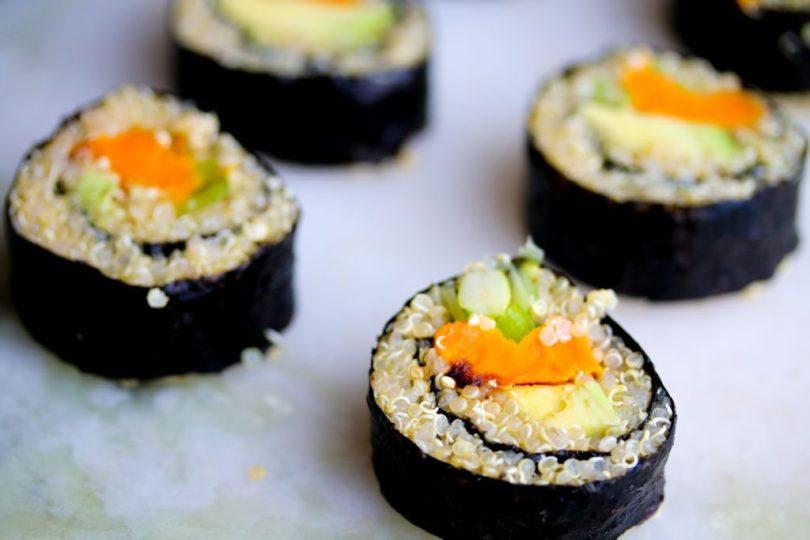 Einfalt og ómótstæðilegt kínóa sushi