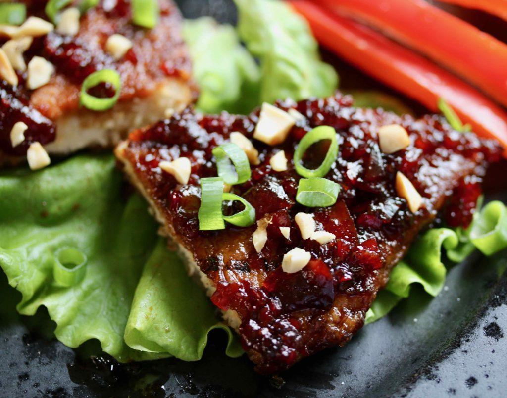 """Thai chilí """"kjúklingur"""" grænmetisætunnar"""